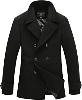 Mens Wool Classic Pea Coat Winter Coat