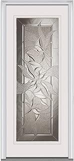 National Door Company Z022207L Fiberglass Smooth, Primed, Left Hand In-Swing, Exterior Prehung Door, Lasting Impressions Full Lite, 34