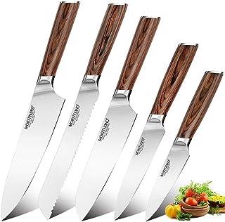 Ensemble de Couteau de Cuisine Couteau de cuisine Couteaux chef japonais Set professionnel Allemagne 1,4116 haut en acier ...