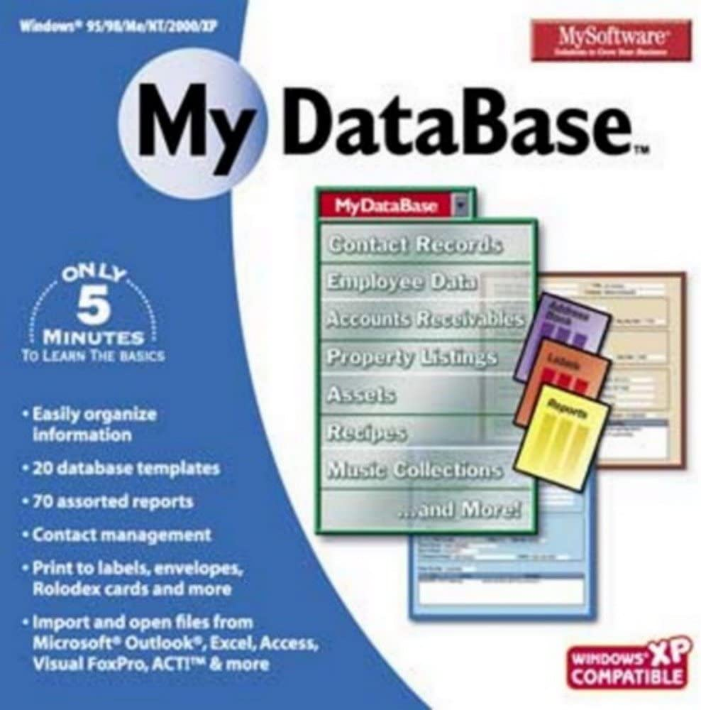 Mysoftware New Limited time sale Free Shipping My Database