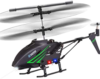 VATOS RC Helicopter, Remote Control Helicopter with Gyro and LED Light 3.5 Channel Alloy Mini Helicopter Remote Control fo...