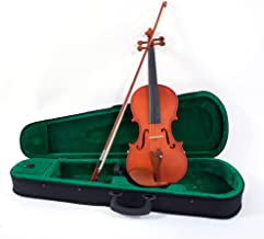 2019 New 3/4 Size Violin Case Acoustic Violin Case Durable Natural Solid Wood Fiddle for Beginners and Students w/Case, Bow and Rosin Strings Shoulder Rest Tuner (US stock)