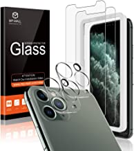 "[4 Pack] MP-MALL 2 Pack Camera Lens Protector + 2 Pack Tempered Glass Screen Protector for iPhone 11 pro max (6.5""), Anti-Scratch [New Version] [Easy Installation]"