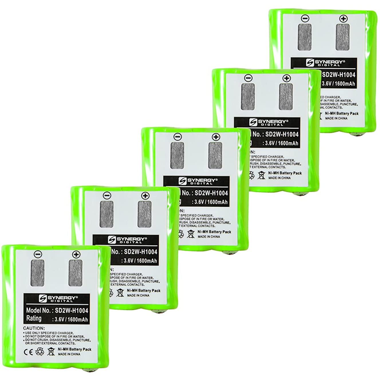 Motorola KEBT-1300 2-Way Radio Battery Combo-Pack Includes: 5 x SD2W-H1004 Batteries