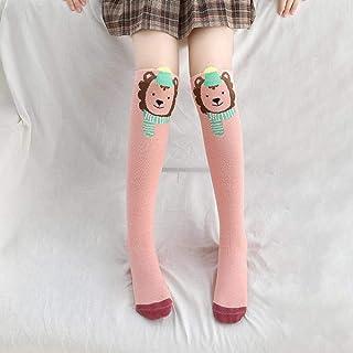 YDY, Lindo de dibujos animados de la rodilla calcetines de la muchacha Kawaii animal impresión de algodón sobre la rodilla calcetines de invierno bebé niñas niño hasta la rodilla calcetines 3-12 años