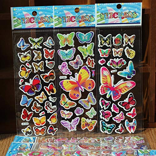 CVG 5pcs/Lot Colorful Butterfly Bubble Sticker School Rewards 3D Puffy Foam Stickers Kids Gift Toys Christmas Scrapbook Gifts
