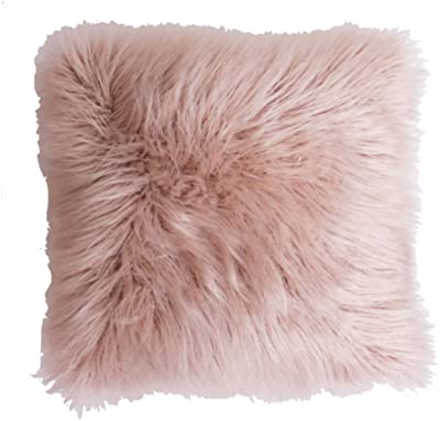 Thro by Marlo Lorenz TH010118008E Keller Faux Mongolian Reverse to Micromink Pillow
