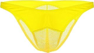 ranrann Men's Comfort Briefs Sheer Mesh Fishnet Sissy Pouch Crossdress Panties Underwear