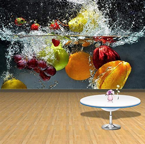 Papel Pintado 3D Murales Fruta limpia- Fotomurales Para Salón Natural Landscape Foto Mural Pared, Dormitorio Corredor Oficina Moderno Festival Mural 200X150CM