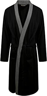 MARK KLEIN Mens 100% Cotton Dressing Gown Lighweight Jersey Robe Kimono