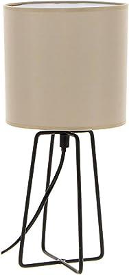 QAZQA Design//Modern 2er Set Schreibtischleuchte//Tischleuchte//B/üroleuchte//Tischlampe//Lampe//Leuchte Waltz kupfer//Innenbeleuchtung//Wohnzimmerlampe//Schlafzimmer Metall Rund LED geeignet E