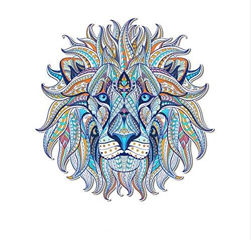 Pegatina transfer XXL parche termoadhesivo leon mandala para cazadoras camisetas, jerseys, sudaderas, mochilas.24 x 24 cm de CHIPYHOME