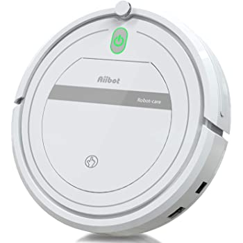 Aiibot Robot Aspirador,Succión Fuerte Aspirador Robot,Diseño Ultrafino,Anti-caída,HEPA,Pelos Animales, Adecuado para ...