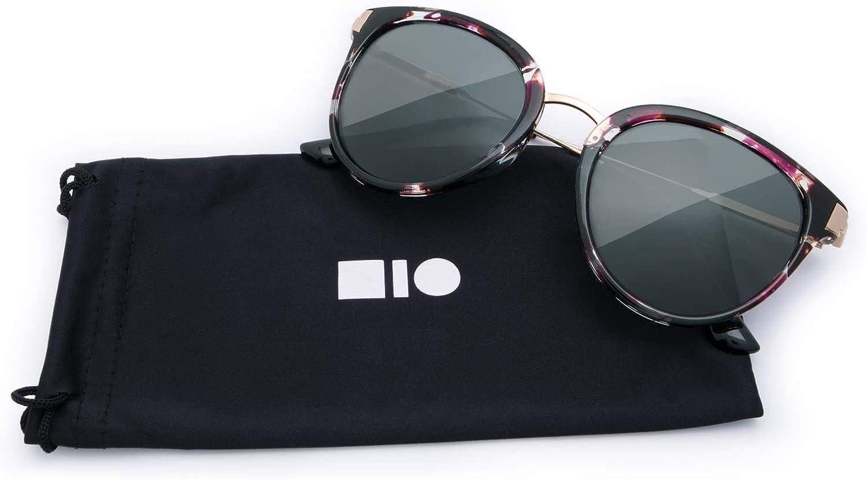 Mio Eyewear [FullRim  Solid Black] Fashion Sunglasses for Woman (100% UV Predection)  Marble Purple