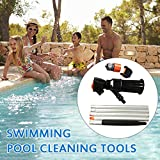 Elikliv Vacuum Pool Cleaner, Portable Swimming Pool Cleaning Tool with 5 Pole Sections Suction Tip Connector...