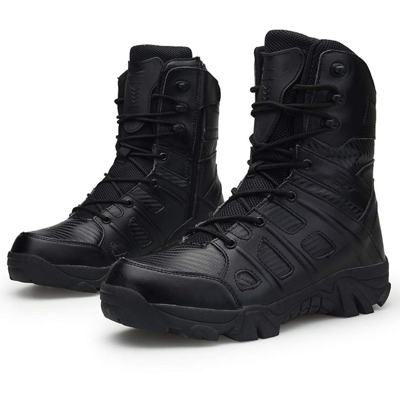 うなずくカナダ決定するメンズサイズ13の砂漠のブーツ、ハイキング用すべり止め、風防、軽量で通気軍事戦術砂漠のブーツ
