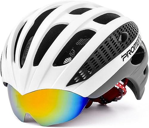 Ergou Radfüren Helm Mountain Bike Riding Helm Ein mit Brille Leichte Helm Rennrad M er und Frauen Brillenmodelle