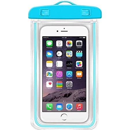 Ionix Technology Waterproof Sealed Transparent Bag , mobile virus protection , waterproof mobile pouch for underwater photography with Luminous Underwater Pouch Phone Case for iPhone/Samsung/HTC (Multicolor) ,water proof mobile cover / underwater