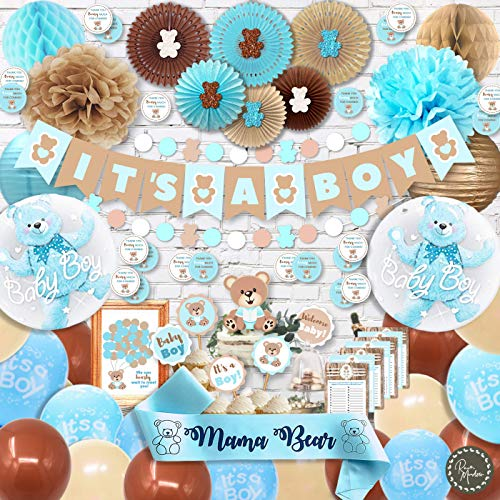 Teddy Bear Baby Shower Decorations for Boy
