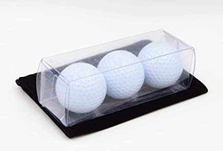 GOLF PRACTICE BALL, 3PCS IN ONE TRANSPARENT PLASTIC BOX