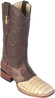 Genuine Crocodile Belly Honey Wide Square Toe Los Altos Men's Western Cowboy Boot 821G8251