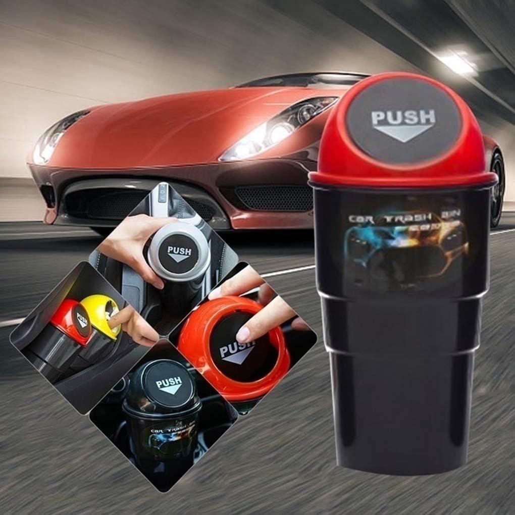 rongweiwang Basura Coche Puede Cenicero Papelera de residuos de Papelera Coche Organizador del envase Titular Auto Accesorios Interior
