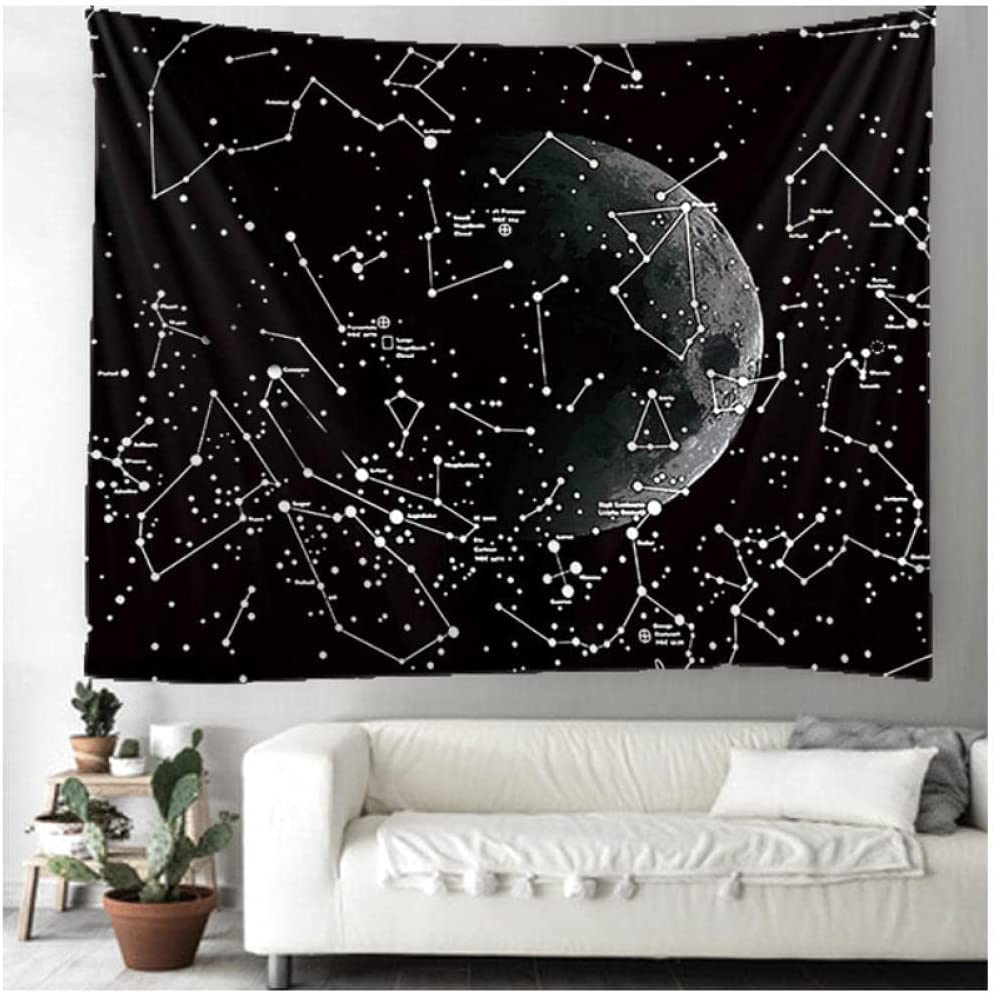 Tapestry by Selling and selling FDCYFFS Moon Star Han Portland Mall Art Background Decorative Wall