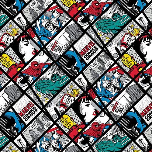 Marvel Fabrics - Marvel - por 0,5 metros - por Camelot - 100% algodón CAM307 Marvel Pop Grid Multi