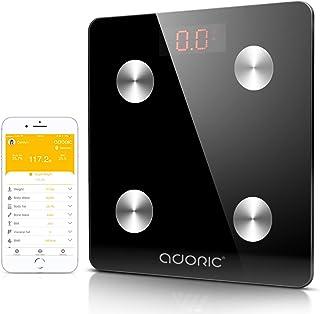 Adoric Báscula Diagnóstico Digital Inalámbrico para iOS y Android (Negro)