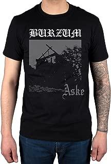 Mens Official Burzum Aske T-Shirt Hlidskjalf Music Metal Album