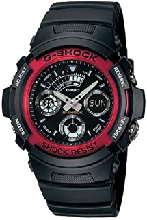 Casio G-Shock Analogue/Digital Mens Black/Red Watch AW-591-4A AW-591-4ADR
