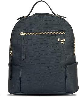 Baggit Spring-Summer 2021 Faux Leather Women's Backpack Handbag (Blue) (Acuaint)