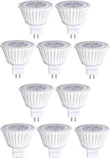 10 Pack Bioluz LED MR16 LED Bulb Dimmable 50W Halogen Replacement 3000K 7w 12V AC DC UL Listed