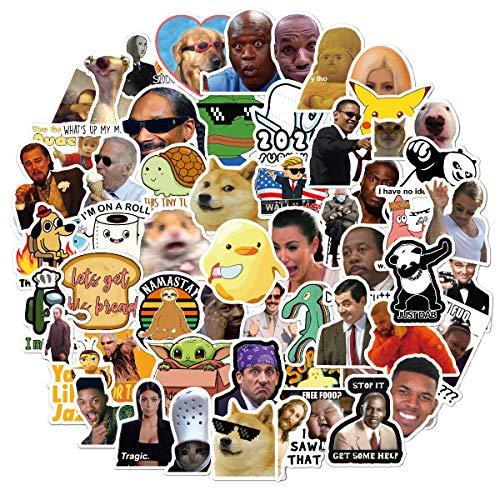 Meme Vinyl-Sticker-Set, 150 Stück, für Laptop, iPhone, Wasserflaschen, Computer & Hydroflaschen, DIY-Dekor für Stoßstangenwand (Meme)