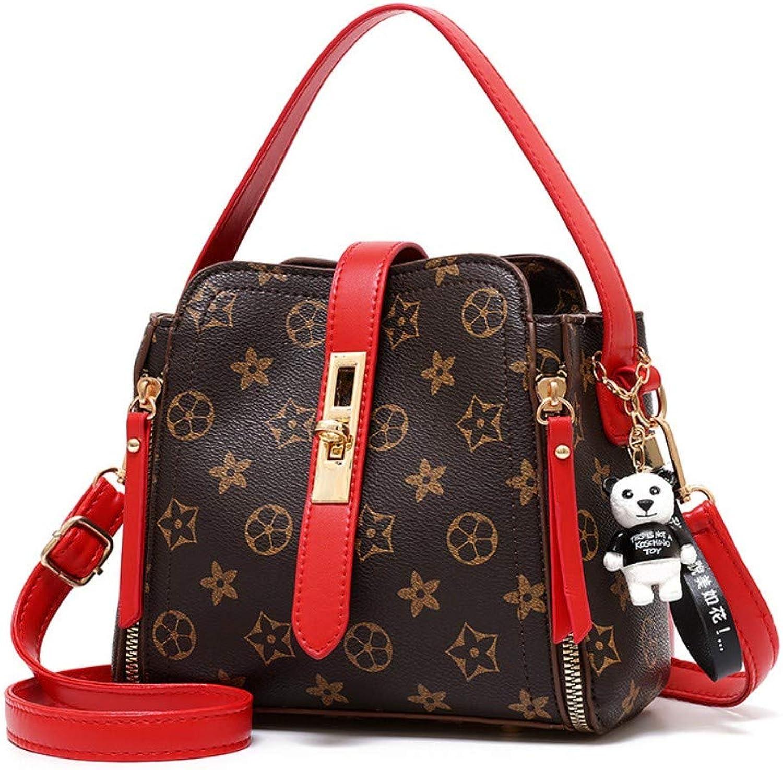 Z.H-H Wild Fashion, Small Fresh Ladies, Casual, Simple, Large-Capacity Personality Single Shoulder Slung Handbag Bucket Type