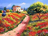 5D diamante pintura otoño bordado completo cuadrado diamante mosaico paisaje árbol imagen de diamantes de imitación decoración del hogar A6 50x70cm