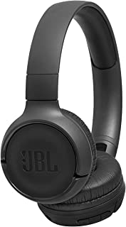 JBL Tune T500BT Powerful Bass Bluetooth Wireless On-Ear Headphones with Mic (Black)