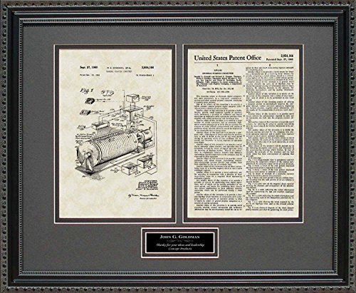 Early Computer Patent Art Wall Hanging | Computer Programmer Personalized Print 16x20