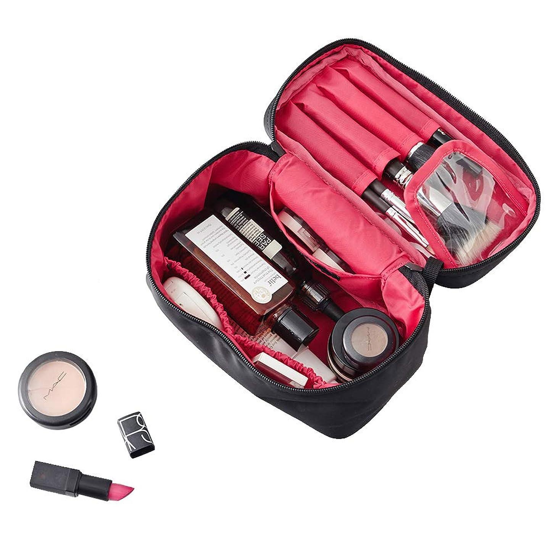 神経行く穏やかなNKTM 化粧ポーチ コスメポーチ メイクポーチ 大容量 バニティポーチ 機能的 小物入れ 化粧道具 旅行 (ブランク)