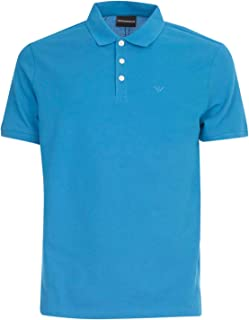 Emporio Armani Luxury Fashion Mens 8N1F121J0SZ0783 Light Blue Polo Shirt | Spring Summer 20