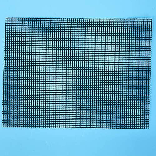Alfombrilla de malla antiadherente para barbacoa, 30 x 40 cm, color negro