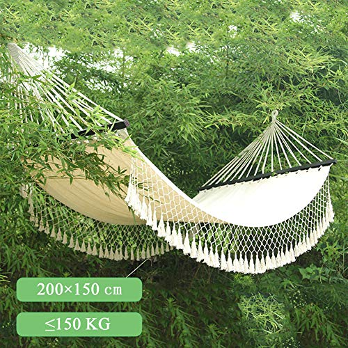 Handgemaakte Grote Braziliaanse Macrame Fringe, Hangmat Swing Net Chair Voor Strand Yard Slaapkamer Patio Veranda En Bruiloft Decor,White