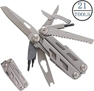 Multitool Pliers,21-in-1 Multi-Purpose Pocket Knife Pliers Kit,Spring-Action Stainless Steel Locking Folding Multi-Plier,Heavy Duty EDC Multi-Tool,Survival,Hiking,Camping,Car Set, Gift