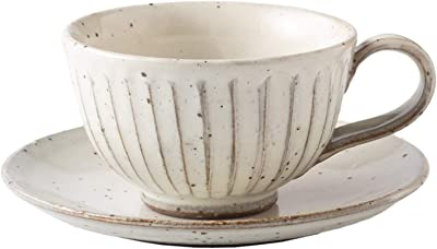 光陽陶器 カップ_ソーサー 和食器 粉引 削ぎ目 C/S 美濃焼 日本製 10309