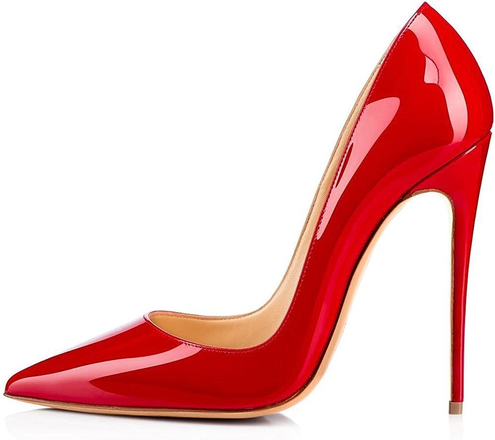 Edefs, scarpe col tacco a spillo per donna,tacco a spillo, 12cm,in pelle sintetica EEIT1801-A-Argento