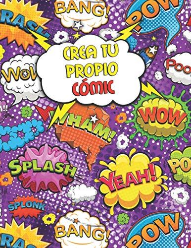 Crea tu Propio Cómic: Libro de Dibujo en Blanco - Cuaderno de 110 Páginas Para Adultos y Niños (A4) - Variedad de Modelos de Paneles (3,5,7 & 9 Paneles)