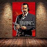 Aishangjia The Game Poster Decor Painting of The Red Dead Redemption 2 en HD Canvas Canvas Painting Arte de la Pared Lienzo 50x70 cm AD-646