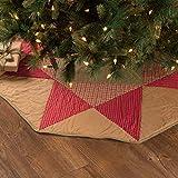 VHC Brands Holiday Decor - Dolly Star Tan Tree Skirt, 48, Green