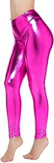 PINKPHOENIXFLY Womens Sexy Shiny Faux Leather Leggings Pants