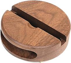 Desktop mobiele telefoon stand draagbare mobiele telefoon houder stand mobiele telefoon houder houten standaard luie basis...